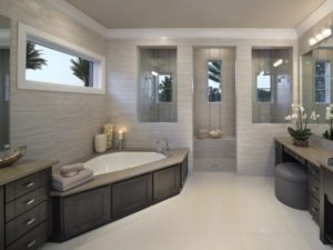 Corner Tub for luxury bathroom decoration by homedecorbuzz