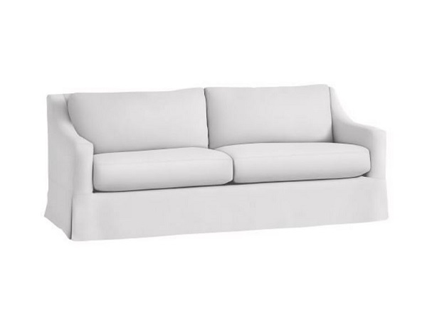 Sloped arm sofa