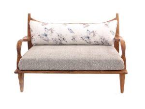 Wooden arms sofa