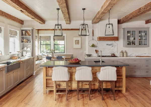Farmhouse kitchen design photo by homedecorbuzz