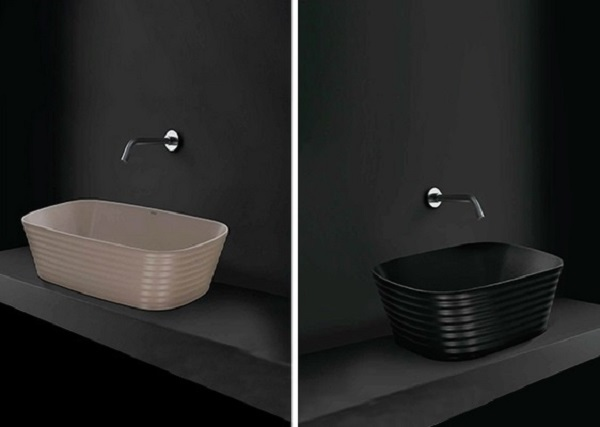 Washbasin designs for small bathrooms.