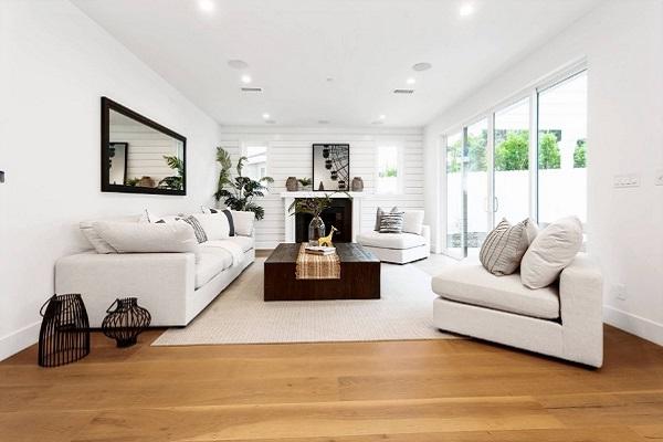 White living room interior design by homedecorbuzz.