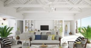 Beach Style Living Room Design Ideas