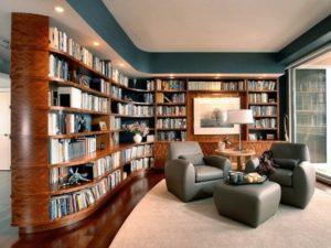 Beautiful sofa in living room library